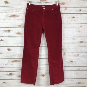 J.Jill maroon corduroy Bootcut pants (binpt5)